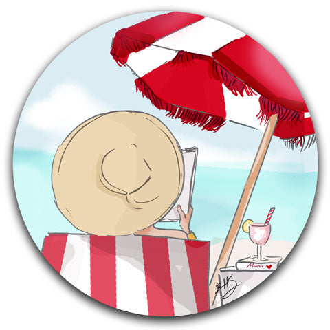 RH2-107-Beach days are the Best Days Rose-Hill-Car-Coaster-CJ-Bella-Co-Beach