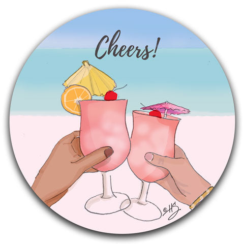 """Cheers!"" Car Coaster by Heather Stillufsen"