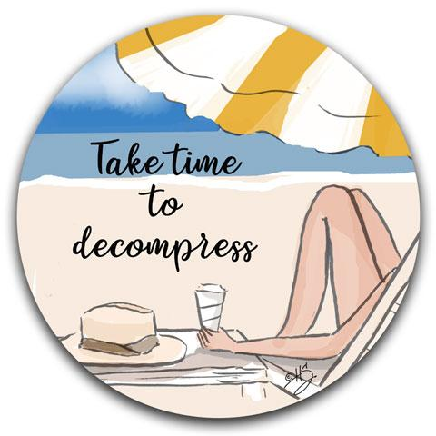 """Take Time"" Car Coaster by Heather Stillufsen"
