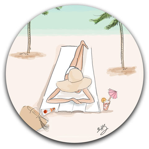 """Beach Days are the Best Days"" Car Coaster by Heather Stillufsen"