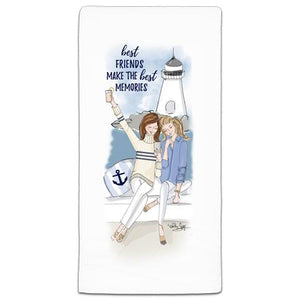 """Best Friends Make"" Flour Sack Towel by Heather Stillufsen"