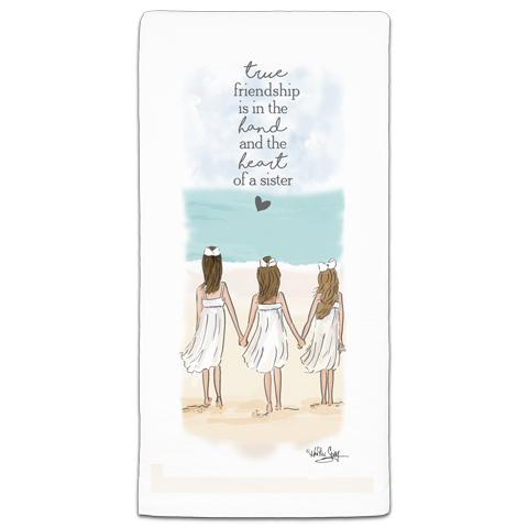 """True Friendship"" Flour Sack Towel by Heather Stillufsen"