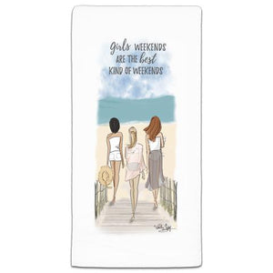 """Girls Weekends"" Flour Sack Towel by Heather Stillufsen"