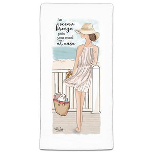 """An Ocean Breeze"" Flour Sack Towel by Heather Stillufsen"