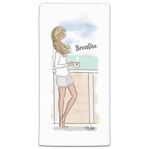"""Breath"" Flour Sack Towel by Heather Stillufsen"