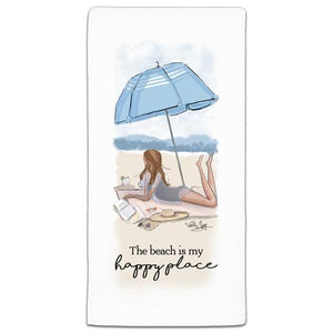 """The Beach Is"" Flour Sack Towel by Heather Stillufsen"