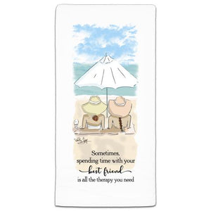 """Sometimes, Spending"" Flour Sack Towel by Heather Stillufsen"