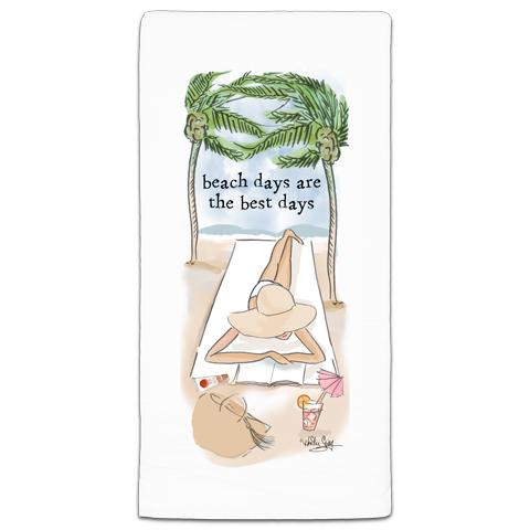 """Beach Days"" Flour Sack Towel by Heather Stillufsen"