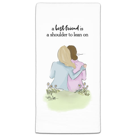 """A Best Friend"" Flour Sack Towel by Heather Stillufsen"