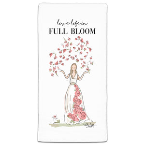 RH3-154 Live Life in Full Bloom flour sack towel by Heather Stillufsen and CJ Bella Co.