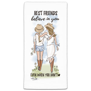 RH3-155 Best Friends Believe in You flour sack towel by Heather Stillufsen and CJ Bella Co.