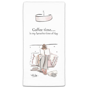 RH3-167 Coffee Time flour sack towel by Heather Stillufsen and CJ Bella Co.