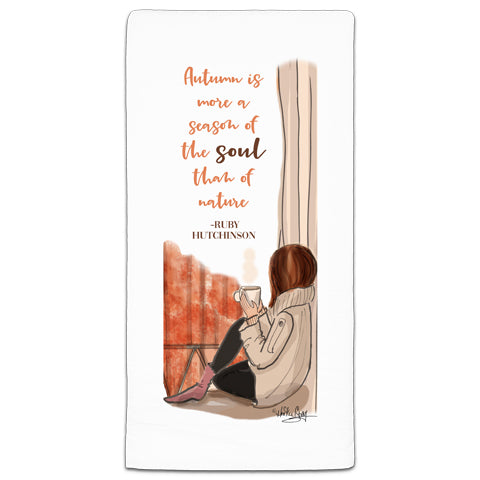 """Autumn is More a Season of the Soul"" Flour Sack Towel by Heather Stillufsen"