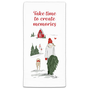 RH3-188 Take Time to Create Memories flour sack towel by Heather Stillufsen and CJ Bella Co.