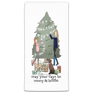 RH3-193 May Your Days Be Merry & Bright flour sack towel by Heather Stillufsen and CJ Bella Co.