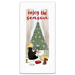 RH3-196 Enjoy the Season flour sack towel by Heather Stillufsen and CJ Bella Co.