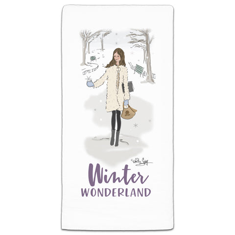 """Winter Wonderland"" Flour Sack Towel by Heather Stillufsen"