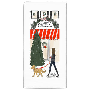 RH3-201 Merry Christmas flour sack towel by Heather Stillufsen and CJ Bella Co.