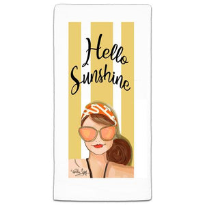 """Hello Sunshine"" Flour Sack Towel by Heather Stillufsen"