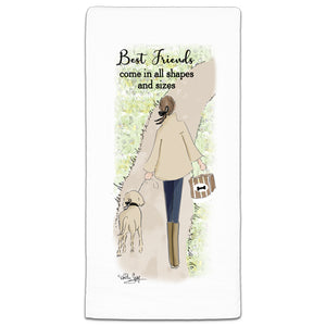 """Best Friends Come"" Flour Sack Towel by Heather Stillufsen"