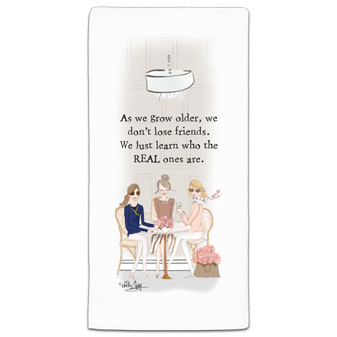 """As We Grow Older"" Flour Sack Towel by Heather Stillufsen"