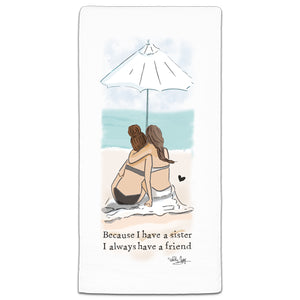 """Because I Have"" Flour Sack Towel by Heather Stillufsen"