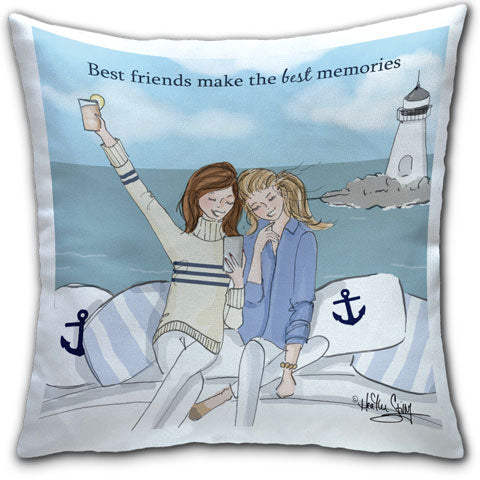 """Best Friends Make"" Pillow by Heather Stillufsen"