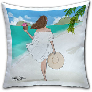 """Beach Walks"" Pillow by Heather Stillufsen"
