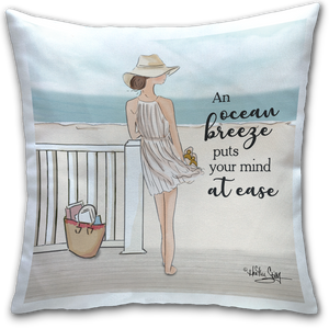 """An Ocean Breeze"" Pillow by Heather Stillufsen"