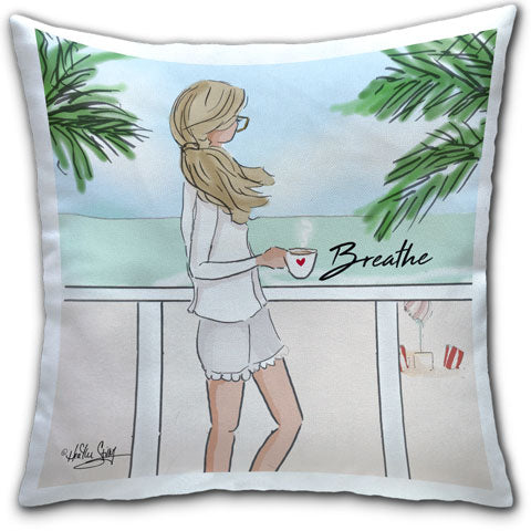 """Breathe"" Pillow by Heather Stillufsen"