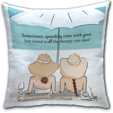 """Sometimes, Spending Time With Your Best Friend"" Pillow by Heather Stillufsen"