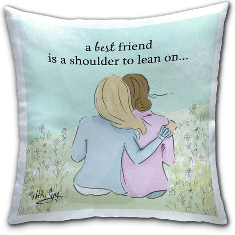 """A Best Friend"" Pillow by Heather Stillufsen"