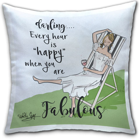"""Darling"" Pillow by Heather Stillufsen"
