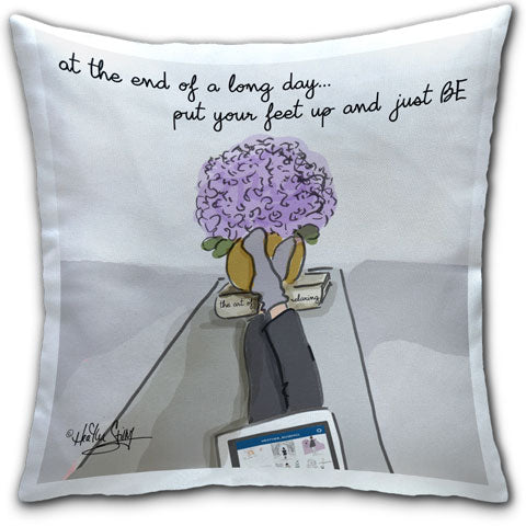 """At the End of a Long Day"" Pillow by Heather Stillufsen"