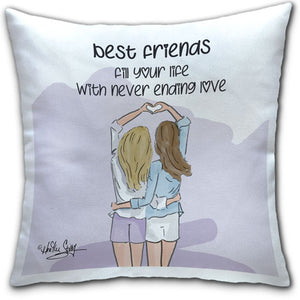 RH4-166-Best-Friends-Fill Your life with Never ending Love-Everyday-Pillow-Rose-Hill-CJ-Bella-Co