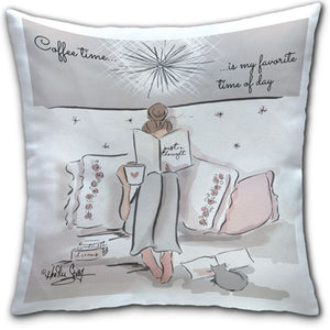 RH4-167-Coffee-Time Is My Favorite Time of the Day-Everyday-Pillow-Rose-Hill-CJ-Bella-Co