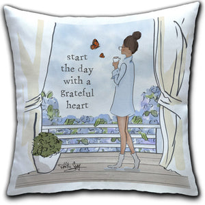 RH4-222-Lady-Standing-Looking-Out-Window-Start-The-Day-Grateful-Everyday-Pillow-Rose-Hill-CJ-Bella-Co