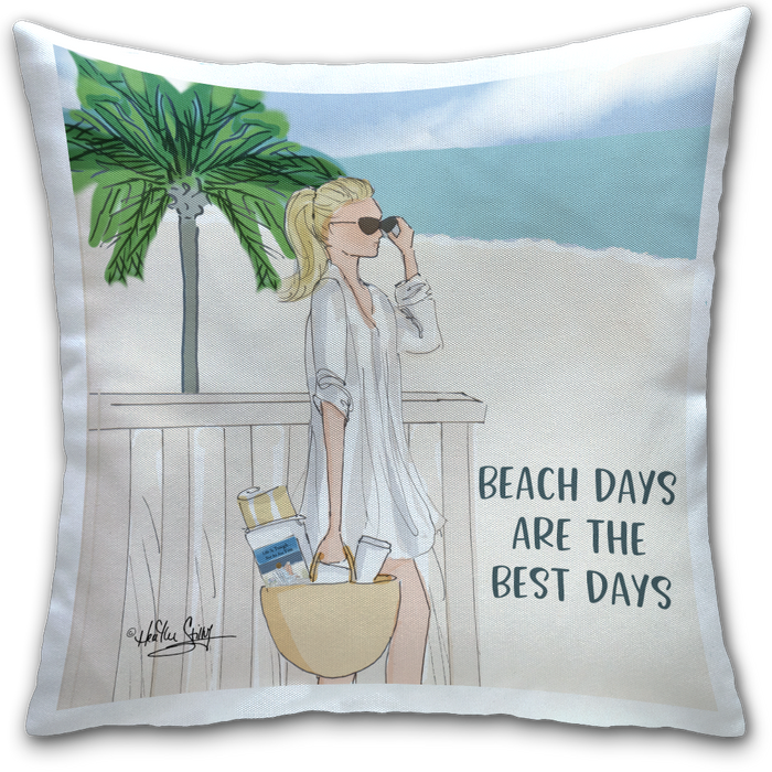 """Beach Days"" Pillow by Heather Stillufsen"
