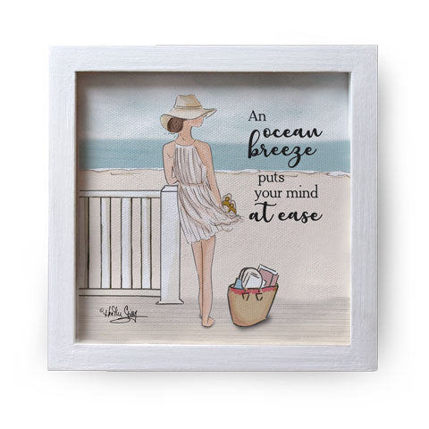 """An Ocean Breeze"" Canvas Box Sign by Heather Stillufsen"
