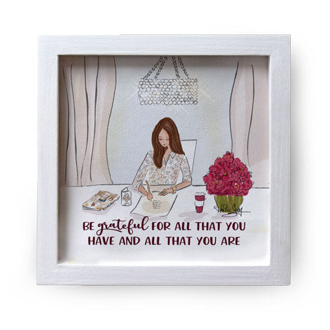 """Be Grateful For All"" Canvas Box Sign by Heather Stillufsen"