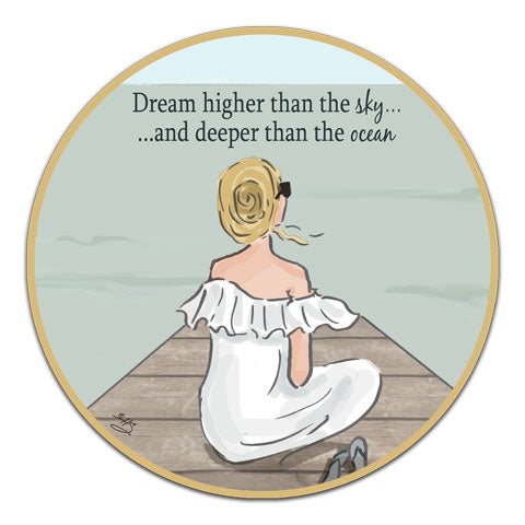 """Dream Higher"" Vinyl Decal by Heather Stillufsen"
