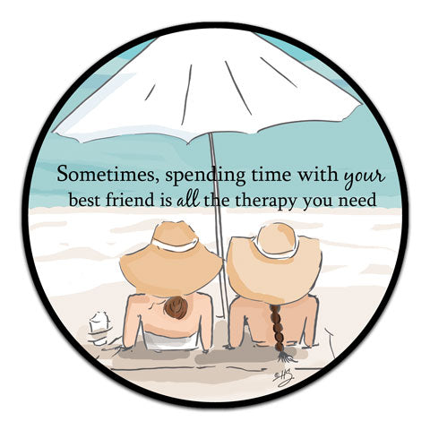 """Sometimes, Spending TIme"" Vinyl Decal by Heather Stillufsen"