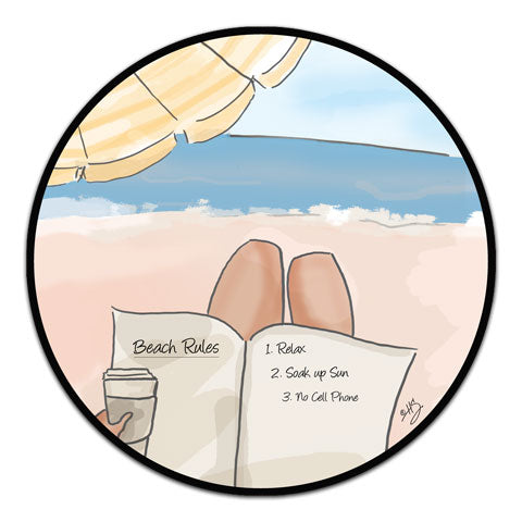 """Beach Rules"" Vinyl Decal by Heather Stillufsen"