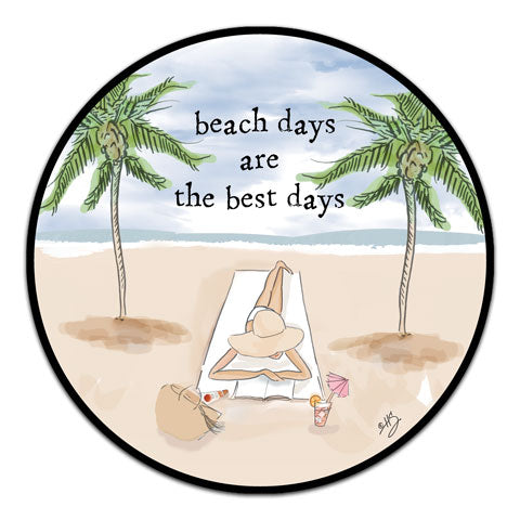 """Beach Days Are"" Vinyl Decal by Heather Stillufsen"