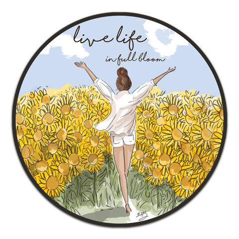 """Live Life In Full Bloom"" Vinyl Decal by Heather Stillufsen"