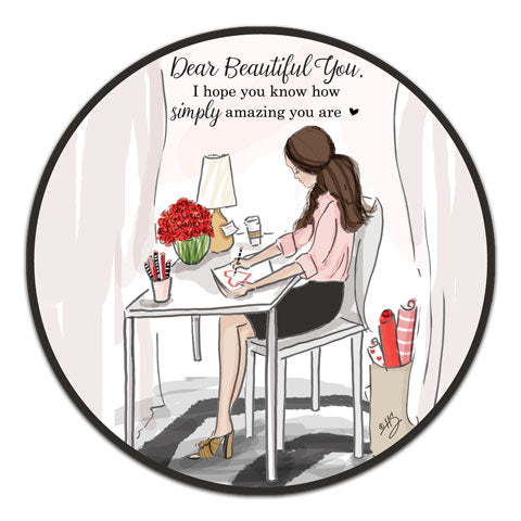 """Dear Beautiful You"" Vinyl Decal by Heather Stillufsen"
