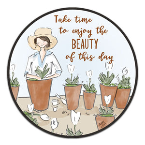 """Take Time To Enjoy"" Vinyl Decal by Heather Stillufsen"