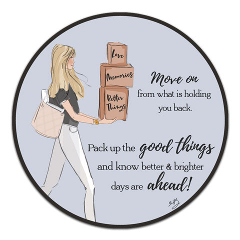 """Move On"" Vinyl Decal by Heather Stillufsen"