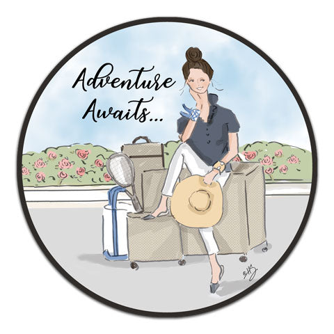 """Adventure Awaits"" Vinyl Decal by Heather Stillufsen"