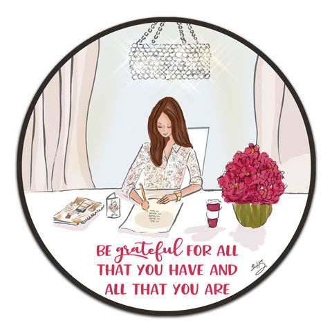 """Be Grateful For"" Vinyl Decal by Heather Stillufsen"